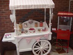 Candy cart and popcorn machine supplied by Linc Events Wedding Sweets, Diy Wedding, Wedding Ideas, Candy Cart, Desert Table, Popcorn Bar, Food Stands, Carnival Themes, Candy Bouquet