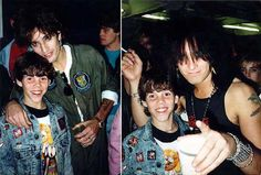 Steve-O, Tommy Lee and Nikki Sixx Steve-O with Tommy Lee and Nikki Sixx of Mötley Crüe, 1987.