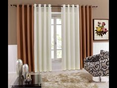 """Cortinas Fáciles y Rapidas """"ValeTips"""" - YouTube Lounge Design, Living Room Mantle, Living Room Decor Colors, Beautiful Living Rooms, Small Living Rooms, Best Bedroom Colors, Classic Curtains, Curtains With Blinds, Home Interior Design"""