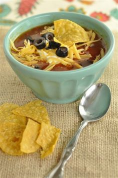 Crock Pot Chicken Tortilla Soup ~ this is what's for dinner at our house!