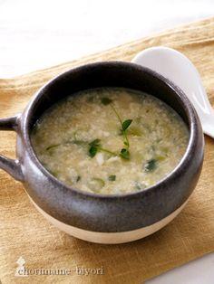 くずし豆腐と卵のスープ