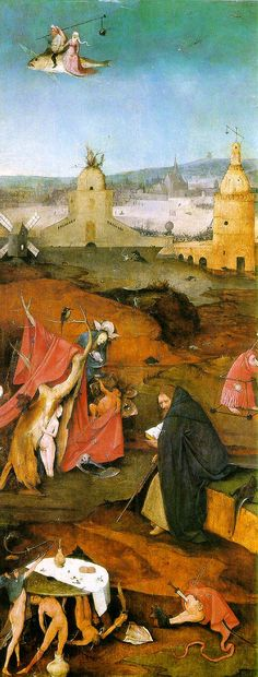 Hieronymus Bosch - Temptations of Saint Anthony. Detail 04
