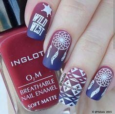 Dream catcher nail art, boho nails