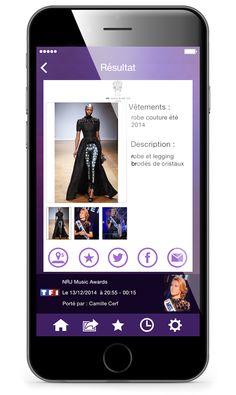 Fashion Marker - L'application qui identifie les vêtements portés la Télé.