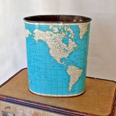 The perfect trash can! Little fabric scraps, yarn scraps, and tossed notes!