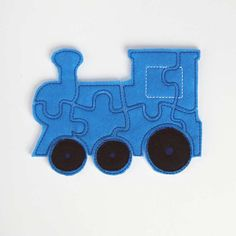 Train Kids Puzzle  Felt  - I could sew Ethan one or two of these as quiet busy games for restaurants etc