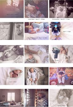 A new baby 30 day project. Such a sweet, simple way to capture baby's first days.