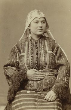 Female attire from Smilevo, Macedonia. 1892