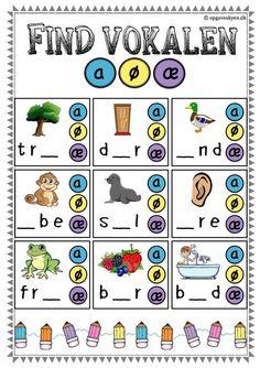 dansk opgaver indskoling 1. klasse, børnehaveklasse, danskopgaver Danish Language, Swedish Language, Learn Swedish, Kids Math Worksheets, Cooperative Learning, Math For Kids, Learn To Read, Literacy, Homeschool