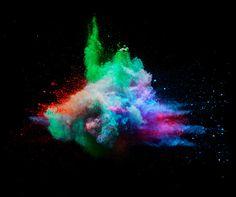 powder explosion in black room