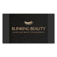 Eyelash Extensions Salon and Spa Black Standard Business Card
