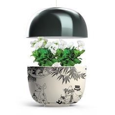 The set includes: Plantui Moomin Garden black. Height Min 20 - Max 50 cm Plantui metal stand Moomin growth book 9 plant capsules + an adapter electrical plug Hydroponic Gardening, Hydroponics, Herb Garden, Indoor Garden, Growing Herbs At Home, Christmas Wishlist 2016, Moomin Shop, Moomin Valley, Smart Garden