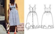 Выкройка платья-сарафана №481, магазин выкроек grasser.ru #sewing_pattern #pattern #выкройка #выкройки