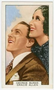"George Burns and Gracie Allen in ""Love in bloom."""