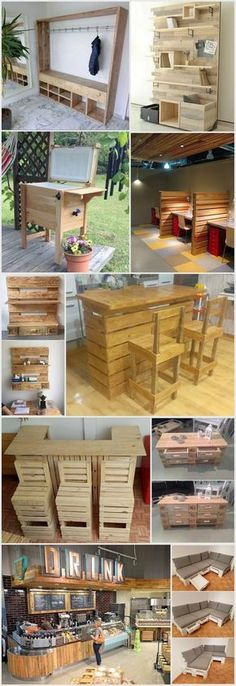 Wonderful Creations Made with Reused Wood Pallets