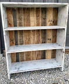 DIY Pallet Bookshelf Sweet Somethings. 18 Detailed Pallet Bookshelf Plans And Tutorials Guide . Bookcase Do It Yourself Home Projects From Ana White . Reclaimed Wood Furniture, Refurbished Furniture, Pallet Furniture, Furniture Makeover, Home Furniture, Refurbished Bookshelf, Furniture Ideas, Simple Furniture, Wood Bookshelves