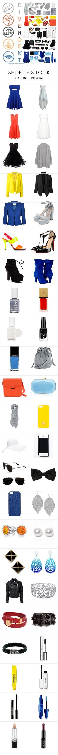 """""""✨Choose your faction✨"""" by lexi-loves-fashion ❤ liked on Polyvore featuring Miss Selfridge, Swing, Jane Norman, Margaret O'Leary, Alexandre Vauthier, LE3NO, Jacques Vert, Jil Sander, Christian Louboutin and Essie"""