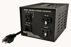Heavy-Duty Voltage Converters: Simran Sm-2000J Japanese 2000 Watt Step Up / Down Voltage Transformer -> BUY IT NOW ONLY: $89.95 on eBay!