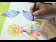 ▶ Maria Carolina Rugero Hada en Creyon sobre foamy o goma eva - YouTube