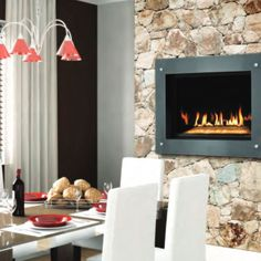Chic and fashionable. Napoleon's Manhattan fireplace is equipped with fuel saving electronic ignition and Napoleon's advanced burner technology.   Jack Wills Outdoor Living