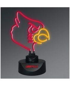 Memory Company Louisville Cardinals Team Logo Neon Light - Red