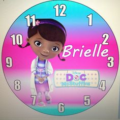 Personalized Doc Mcstuffins Wall Clock by daJShop on Etsy