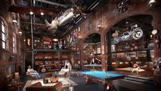 """This loft living space has been transformed to fit the definition of """"what a man really wants""""."""