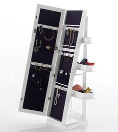 Espejo de pie con joyero incorporado decoracion for Espejos de pie conforama