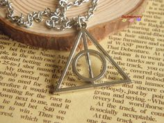 silver harry potter deathly hallows necklace jewlery by BestMemory, $1.80