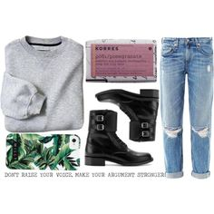 """""""easing into education"""" by beakon on Polyvore When I would like to be comfy but stay fabulous while at school"""
