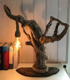 Driftwood Art, Table Lamp, Lighting, Home Decor, Table Lamps, Decoration Home, Room Decor, Lights, Home Interior Design