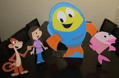 Peixonauta em EVA: personagens para mesa do bolo