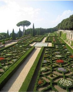 Papal Gardens at Castel Gandolfo - Location of the Pope's summer palace - Castel. - Papal Gardens at Castel Gandolfo – Location of the Pope's summer palace – Castel… - Formal Garden Design, Garden Landscape Design, Landscape Architecture, Garden Landscaping, Formal Gardens, Outdoor Gardens, Modern Gardens, Japanese Gardens, Small Gardens