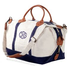 Monogrammed Weekender Duffel Bags | Personalized From Me To You || Enter giveaway for $50 gift card