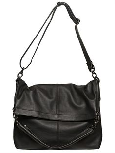 GIVENCHY - NAPPA NIGHTINGALE MESSENGER BAG  Height: 38cm Width: 52cm Depth: 14cm. Detachable and adjustable webbing shoulder strap and top handle. Concealed snap button closure. One internal zip pocket. Fully lined. Made in Italy
