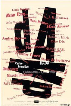 Exhibition poster by Atelier de Création Graphique, 2005, Dada, Centre Pompidou, Paris.