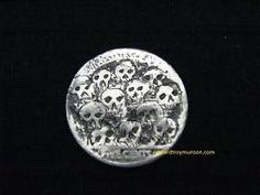 Hobo Buffalo Nickel Coin with Skulls Artwork !!!