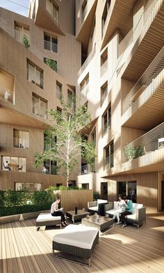 Banyan Wharf, Regent's Canal conservation area by Hawkins Brown. Render: Forbes Massie