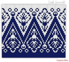 Option For Tiled Quilt - Knitting - Fo Option - Diy Crafts - Qoster Fair Isle Knitting Patterns, Fair Isle Pattern, Crochet Stitches Patterns, Knitting Charts, Knitting Stitches, Cross Stitch Patterns, Intarsia Knitting, Hand Knitting, Khadra