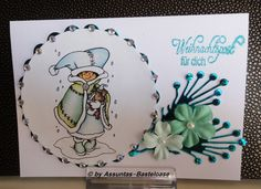 Grußkarte zu Weihnachten mit einem wunderschönen Motiv Handmade, Cards, Christmas, Nice Asses, Hand Made, Handarbeit