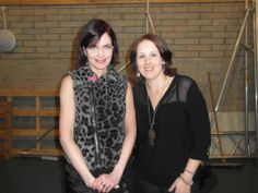 KIRSTY (ss) meeting Elizabeth McGovern at the Barnstaple gig
