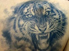 Crazy Tiger tattoo: looks so real