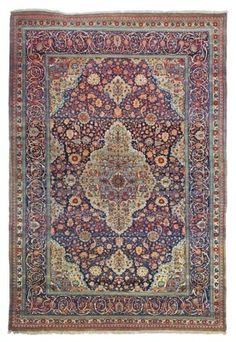 KASHAN 'MOHTASHAM' CARPET  CENTRAL PERSIA, CIRCA 1890  A couple of minute faults, otherwise very good condition  11ft.9in. x 7ft.10in. (357cm. x 238cm.)