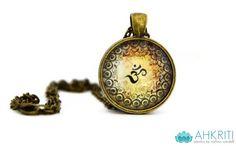 Om necklace henna print yoga jewelry toronto canada on Etsy, $5.28 CAD