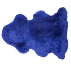 Blue Sheepskin Rug   Wonderful Cornflower Blue British Sheepskin  furrugs.com