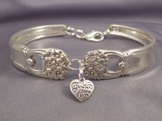 Silverware bracelet - two links and a charm