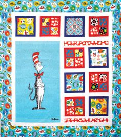 Dr. Seuss Cat in the Hat Quilt Two | Quilting ideas, Baby quilts ... : dr seuss quilt kit - Adamdwight.com