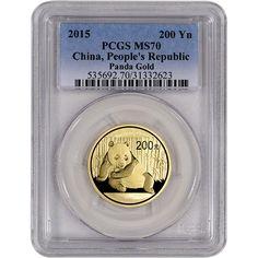 China Panda Gold 2012 MS 70. 50 Yn