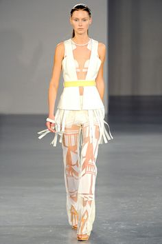 Geometric Pants, love the hair too. David Koma Spring 2012