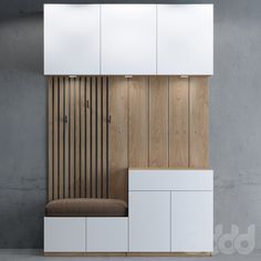 Möbel models: Wardrobe & Display cabinets - Hallway- storage 03 cabinet Your Own Home I Home Entrance Decor, House Entrance, Hallway Decorating, Decorating Blogs, Hall Furniture, Furniture Design, Garderobe Design, Flur Design, Wardrobe Cabinets